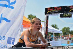Maaike Caelers winnaar triathlon Veenendaal 2015